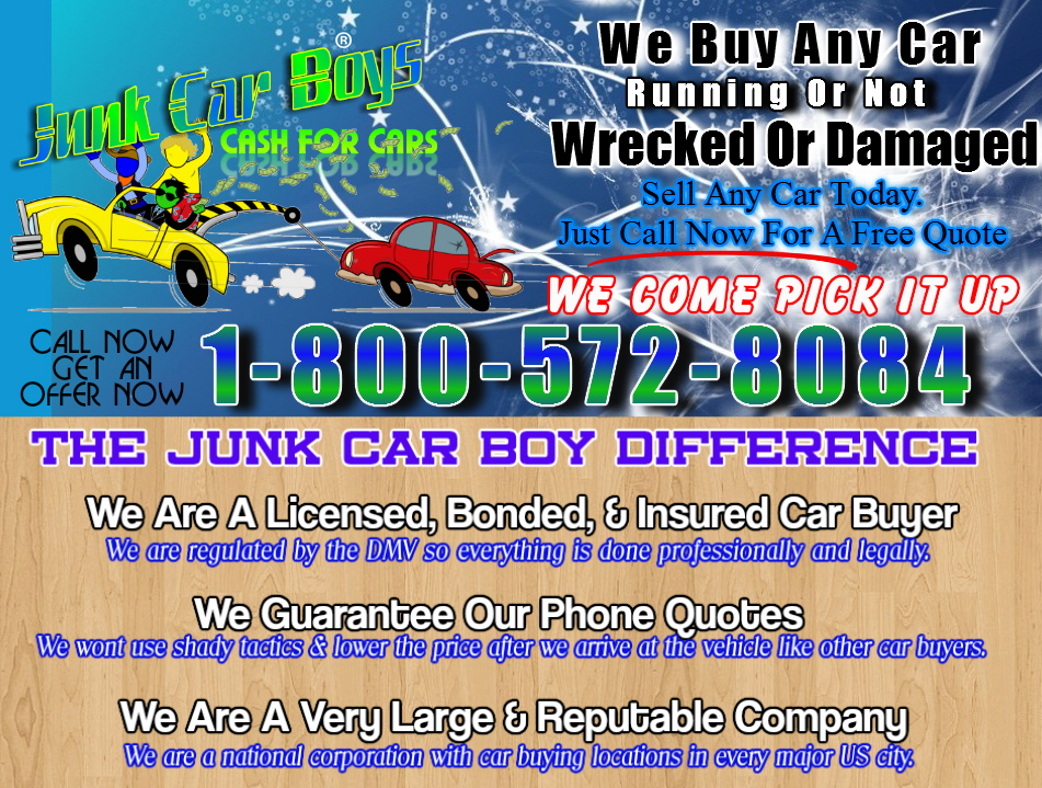 Cash For Cars Baltimore MD - We Buy Junk Vehicles Same Day